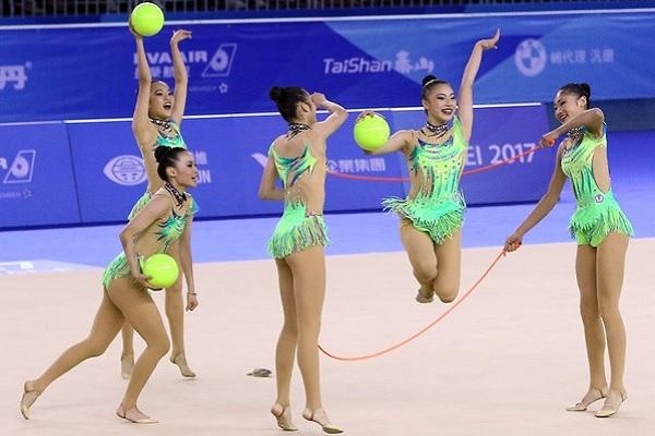 韻律體操團體銀牌