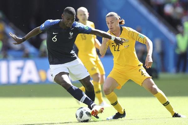 法國2:1勝澳洲