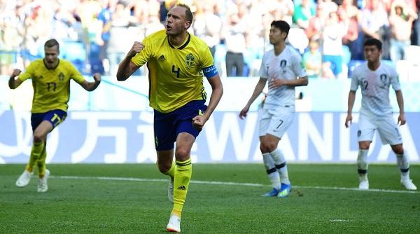 瑞典靠12碼罰球1:0氣走南韓