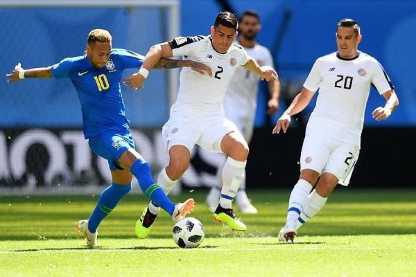 巴西2:0技壓哥斯大黎加