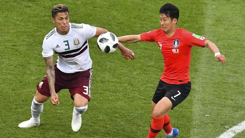 南韓1:2不敵墨西哥