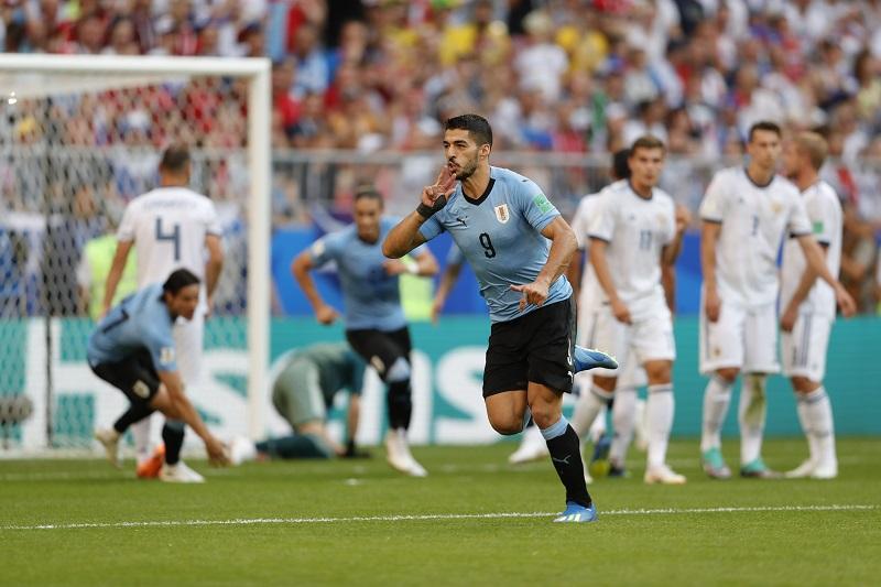 烏拉圭3:0輕取俄羅斯