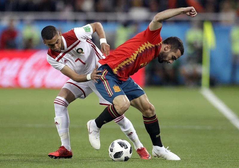 西班牙2:2踢平摩洛哥