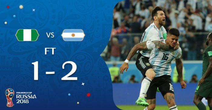 阿根廷2:1險勝奈及利亞