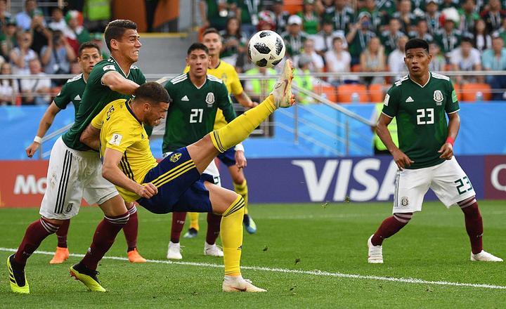 瑞典3:0大勝墨西哥