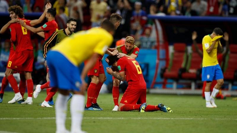 8強 比利時2:1淘汰巴西