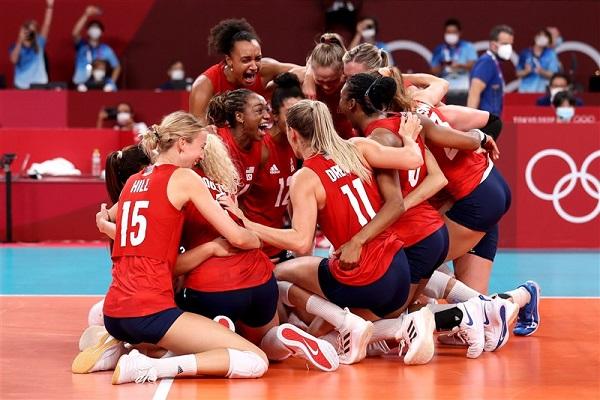 美國奪女排金牌